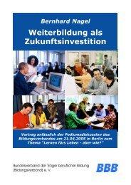 Weiterbildung als Zukunftsinvestition - Bundesverband der Träger ...