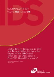 Global Poverty Reduction to 2015 and Beyond - United Nations ...