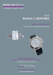 biJoux & MontrEs - Besch Cannes Auction