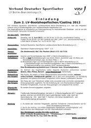2. Bootshegefischen (Unterhavel) - VDSF LV Berlin-Brandenburg e.V.