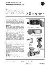Data Sheet T 8355 EN Pneumatic Positioner Type 3766 ... - ii