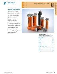Medium Pressure Hydraulic Filters - Donaldson Company, Inc.