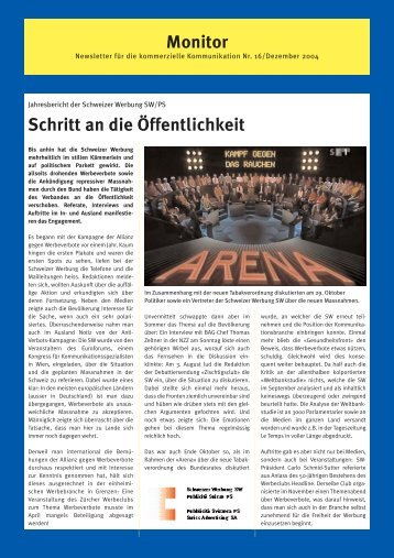 Monitor 16 - auf SW Schweizer Werbung