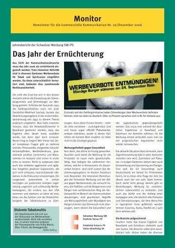 Monitor Nr.20 - auf SW Schweizer Werbung