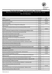 Studienjahr 2012/13 Bachelorstudien, aufbauende Studien und ...