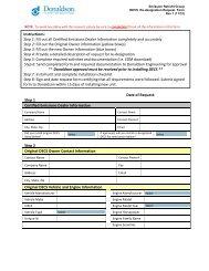 DECS Re-designation Request Form Rev 1 - Donaldson Company ...