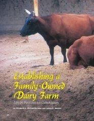 Establishing a Family-Owned Dairy Farm Establishing a Family ...