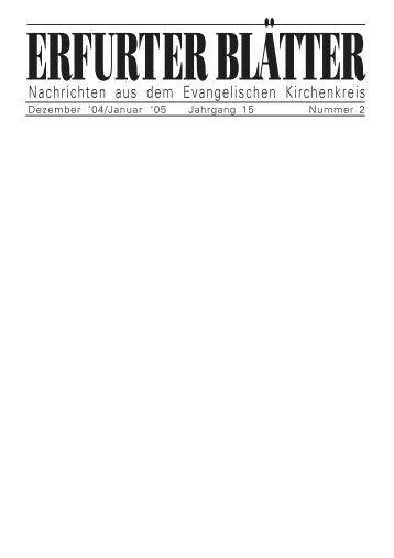 12/01 - Evangelische Kirchen in Erfurt