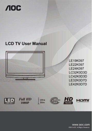 LCD TV User Manual - ELV