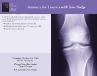Anatomy for Lawyers with Sam Hodge - Oregon State Bar CLE ...