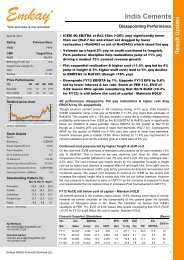 India Cement Q4FY12 Result Update - Emkay Global Financial ...