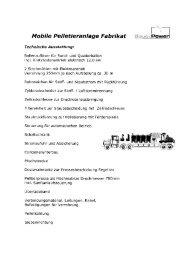 Mobile Pelletieranlage Fabrikat - FWG Groß-Bieberau