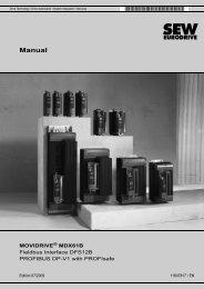 Manual - SEW-Eurodrive