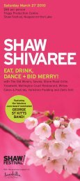 celebrate spring with the shaw shivaree! - Shaw Festival Theatre
