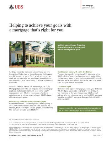 Helping to achieve your goals with a mortgage that's right for you