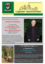 Sondernummer August 2012 - Ligist