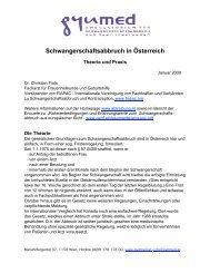 Schwangerschaftsabbruch in Österreich - Abtreibung