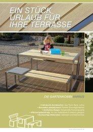 ein Stück UrlaUb für ihre terraSSe ein Stück ... - DIY-PRODUCTS.