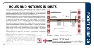 Holes and notches in joists - NICEIC