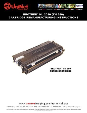 BROTHER™ HL 2030 (TN 350) CARTRIDGE ...