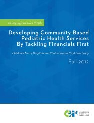 Developing Community-Based Pediatric Health Services By ...