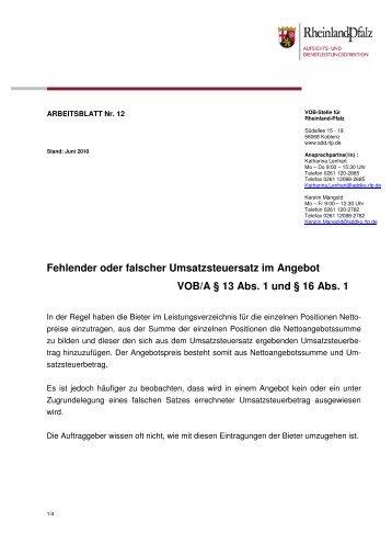 12 Arbeitsblätter - LBV