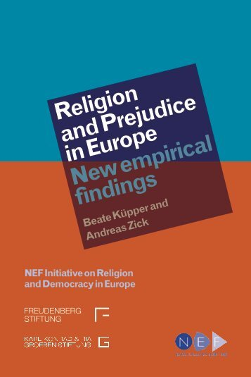 Religion and Prejudice in Europe New empirical findings - Alliance ...