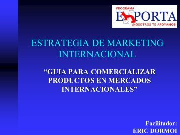 Estrategía de Marketing Intenacional