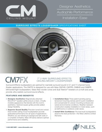 Niles CM7FX speaker brochure - Clever Home Automation