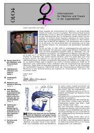 Informationen für Mädchen und Frauen in der Jugendarbeit, Opti 1/04