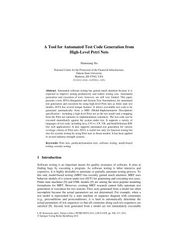 A Tool for Automated Test Code Generation from High-Level Petri Nets