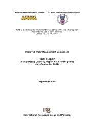 Final Report September 2004 - LIFE-IWRMII Project, Egypt