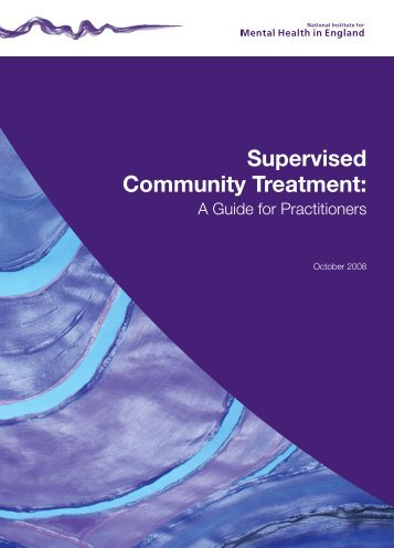 Supervised Community Treatment: - Social Perspectives Network