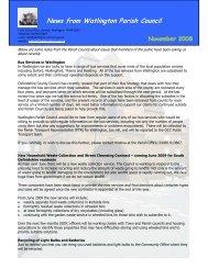 News from Watlington Parish Council
