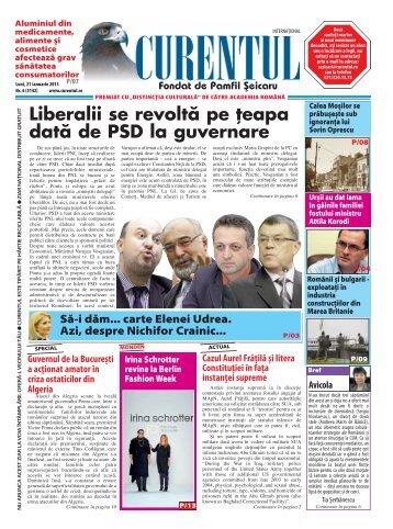 Liberalii se revoltă pe țeapa dată de PSD la guvernare - Curentul