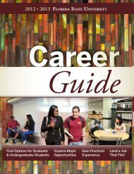 Career Guide - The Career Center - Florida State University