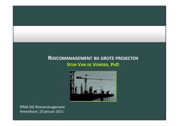 RISICOMANAGEMENT BIJ GROTE PROJECTEN - PMWIKI.nl