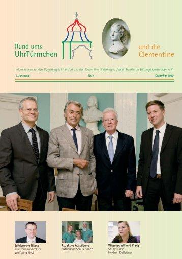 Ausgabe U 4 - Dezember 2010 - Bürgerhospital Frankfurt