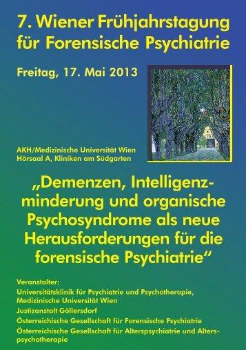 7. Wiener Frühjahrstagung für Forensische Psychiatrie - Termine ...