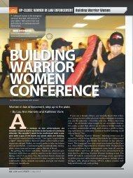 UP-CLOSE: WOMEN IN LAW ENFORCEMENT Building Warrior ...