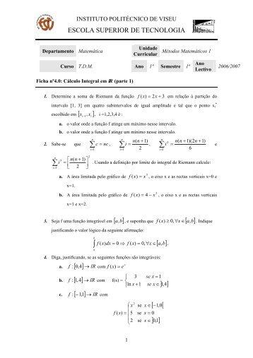 Ficha 4.0 - Escola Superior de Tecnologia - Instituto Politécnico de ...