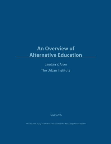 An Overview of Alternative Education - Urban Institute