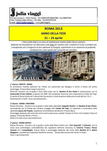 ROMA 2013 - Julia Viaggi