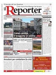 Come cambia il trasporto in centro - Il Reporter