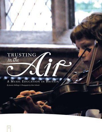 Trusting in the Air: Chetham's School of Music