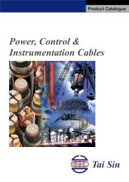 Power, Control & Instrumentation Cables - Tai Sin