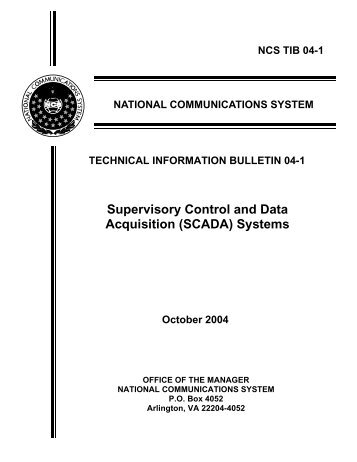 Supervisory Control and Data Acquisition (SCADA) - National ...