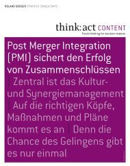 Post Merger Integration - Roland Berger Strategy Consultants