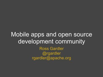 Mobile apps and open source development community - OSS Watch