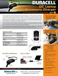 Run and recharge your laptop, right inside your car! - Duracell ...